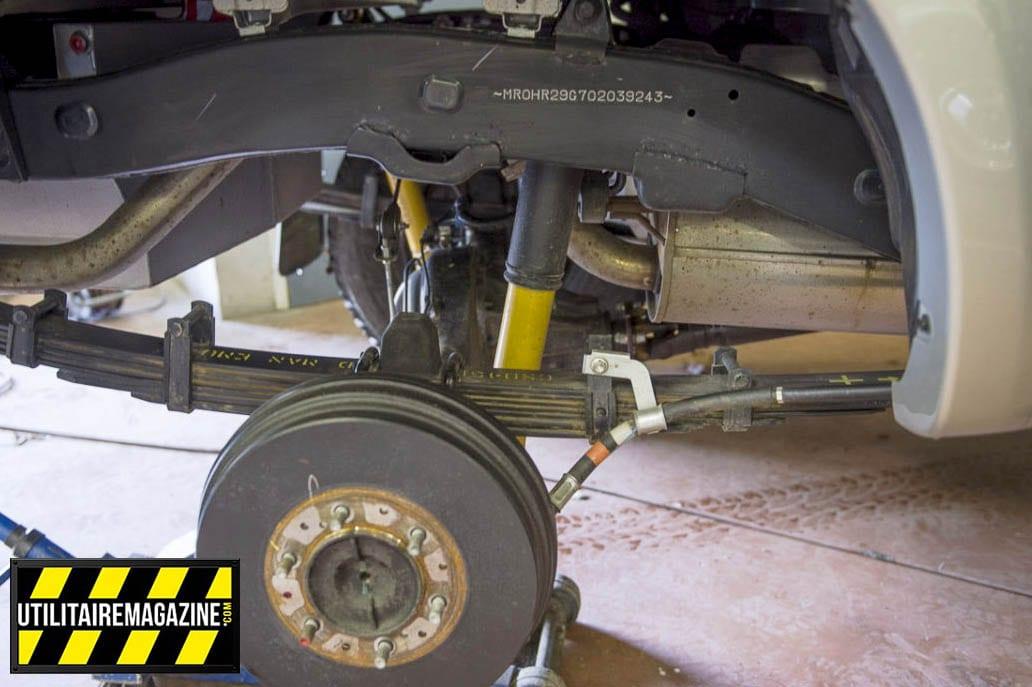 Kit suspension medium + 50 mm de chez OME. Un bon compromis entre confort et est capacité de chargement