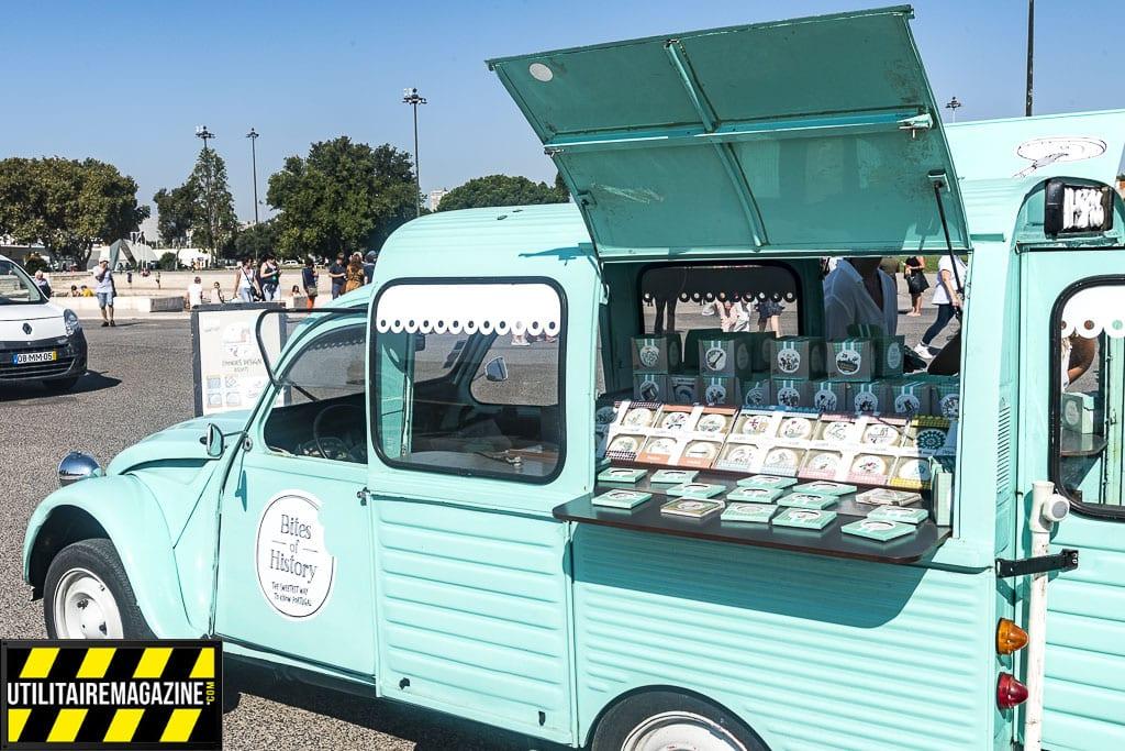 Un food truck dans une 2 CV ? Non, une boutique de gâteaux !