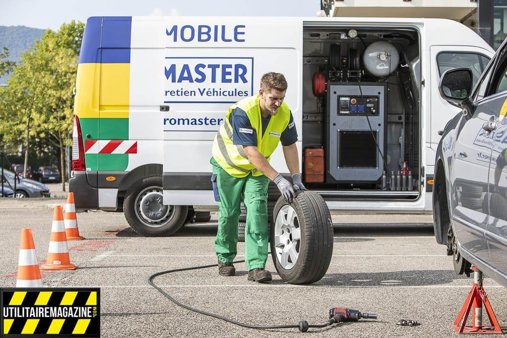 Atelier mobile Euromaster, l'entretien en entreprise