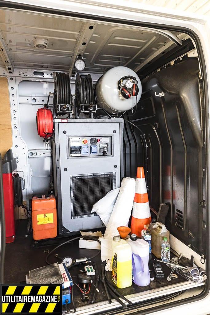 l'atelier mobile euromaster dispose de tout l'équipement pour l'entretien de vos véhicules utilitaires