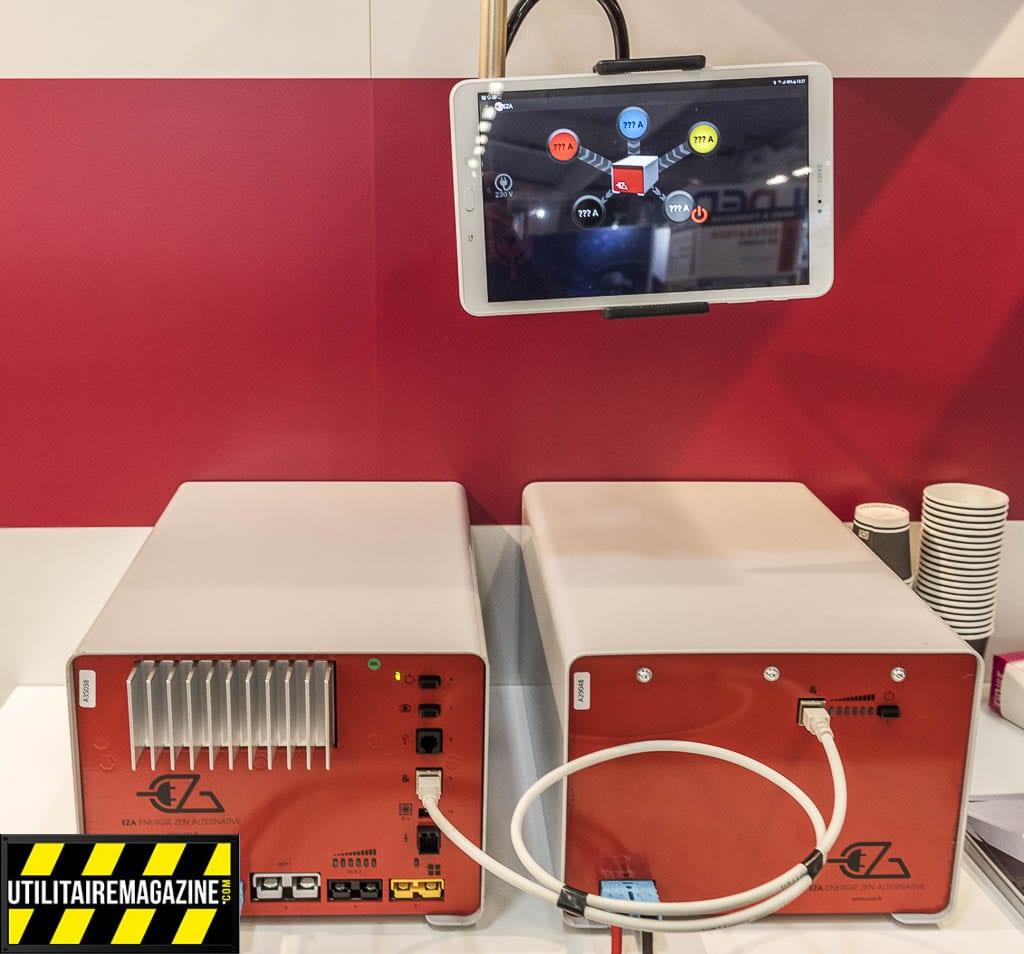 Une batterie EZA et son module slave qui permet de doubler sa performance