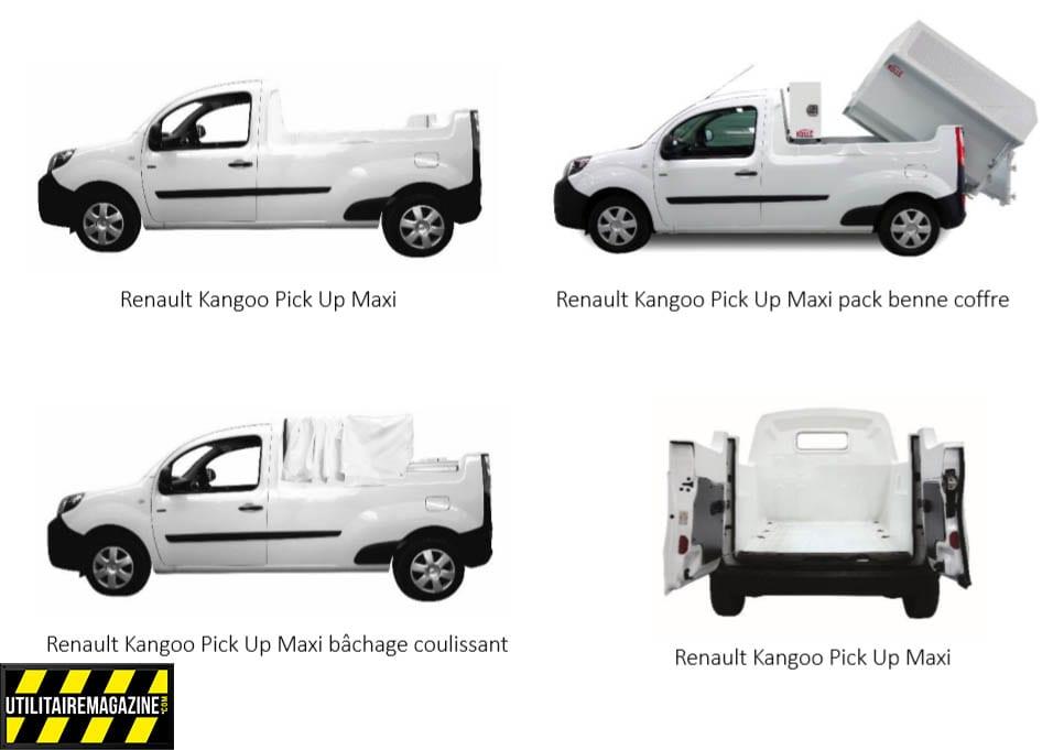 kangoo pick up maxi par Kollé : les différentes versions