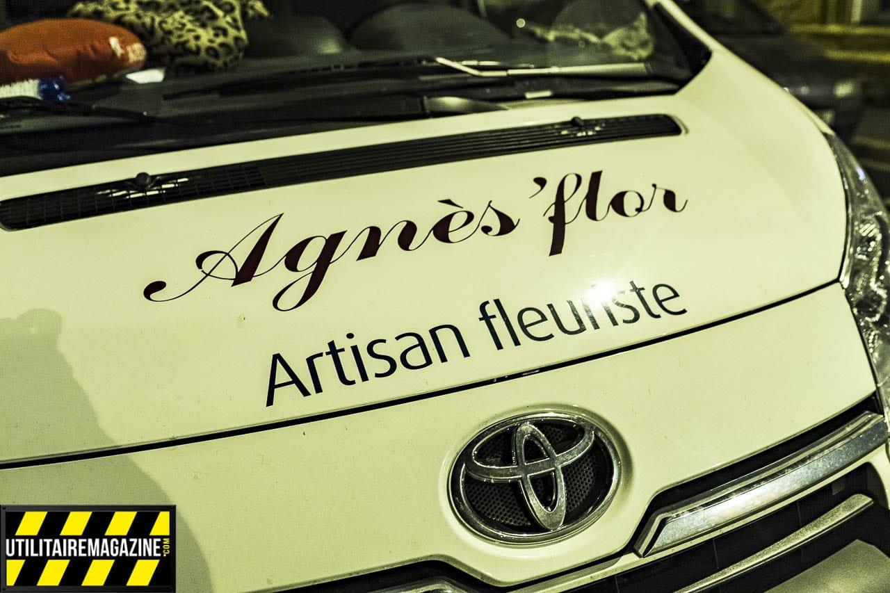 Agnès'Flor est ravie de son Toyota ProAce