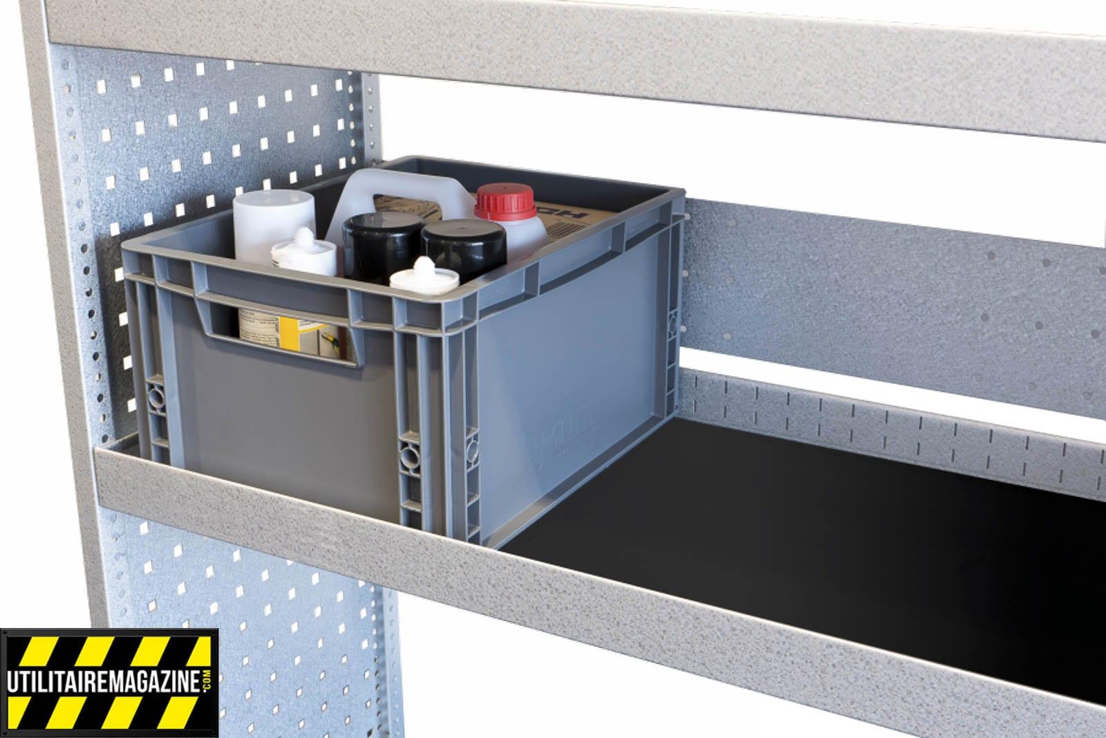 Il est possible d'intégrer des boites de rangement dans différents formats