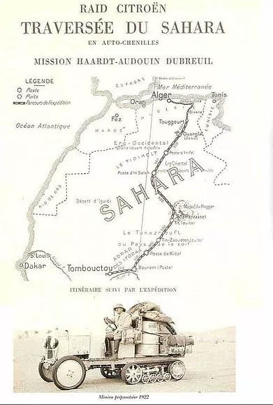 traversée du Sahara Citroën