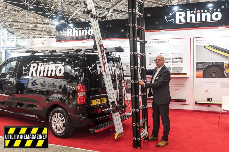 Porte échelle Rhino Products sur Peugeot Expert
